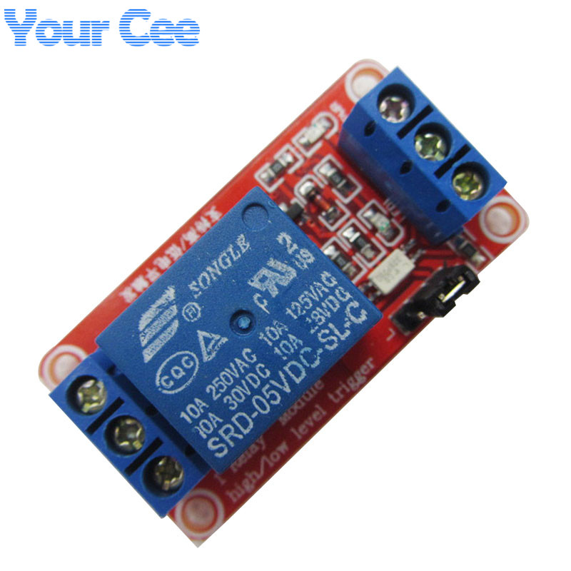 5 pcs One 1 Channel 5V Relay Module Board Shield with Optocoupler Support High and Low Level Trigger for Arduino