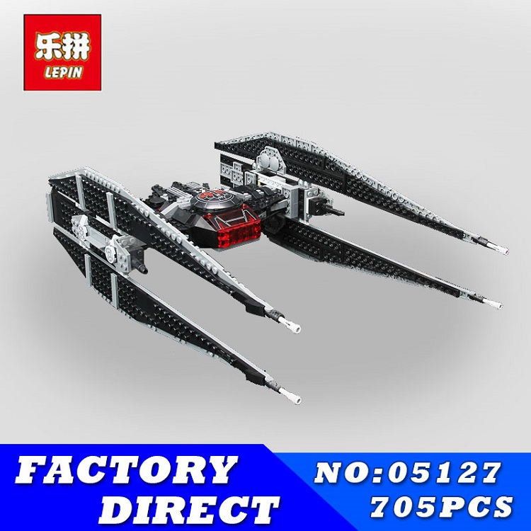 Lepin 05127 The Tie Model Fighter Model 705Pcs Star Set Series 75179 War Building Blocks Bricks Educational DIY Christmas Gifts dhl lepin 05055 star series military war the rogue one usc vader tie advanced fighter compatible 10175 building bricks block toy