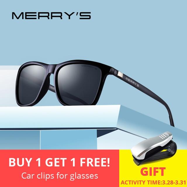 d6b9e85d2f6 MERRYS Unisex Retro Aluminum Sunglasses Polarized Lens Vintage Sun Glasses  For Men Women S8286