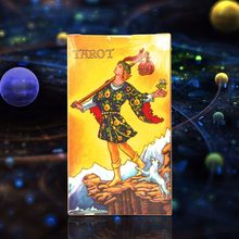 2018 Full English radiant rider wait tarot cards factory made high quality tarot card with colorful box, cards game, board game(China)