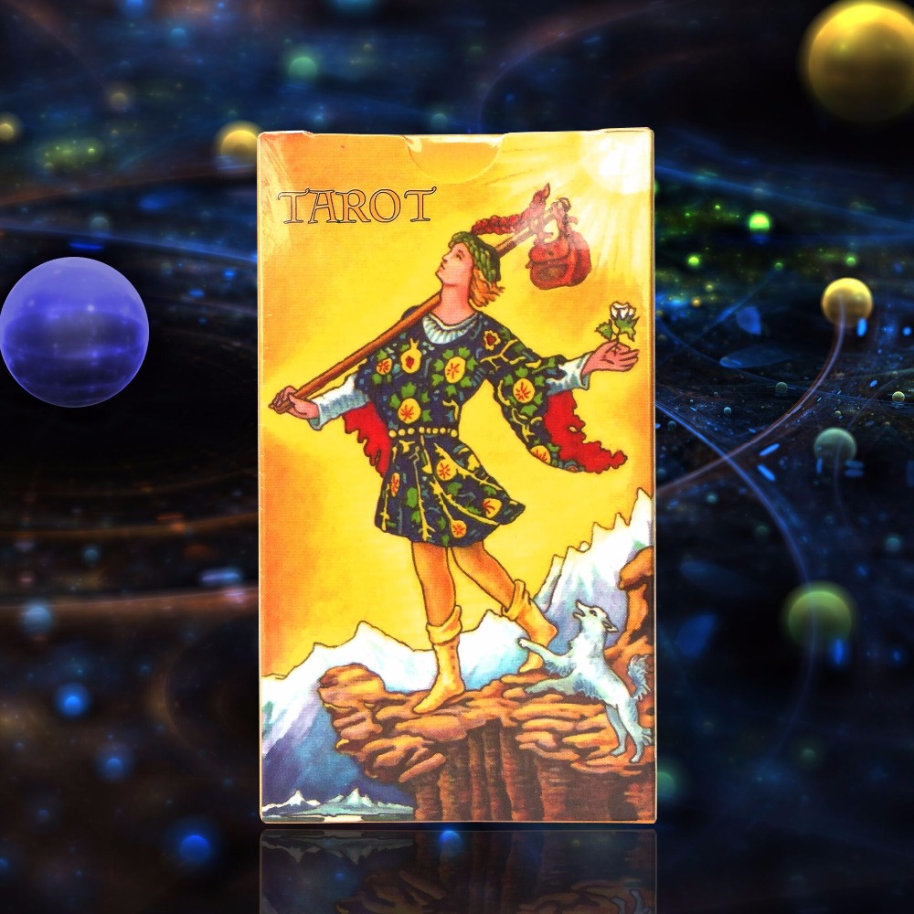 2016 completo Inglés radiante jinete esperar tarot fábrica hizo alta calidad tarot tarjeta con caja de colores, cartas, juego de mesa