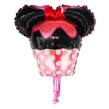 10pcs Mini Minnie Birthday Cake Globos Balloon Wedding Party Decorations Kids Supplies Baby Shower Girl