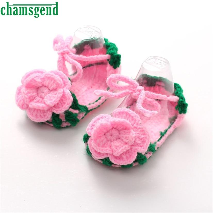 Chamsgend Best продавец кроватки крючком Повседневное маленьких Обувь для девочек ручной ...