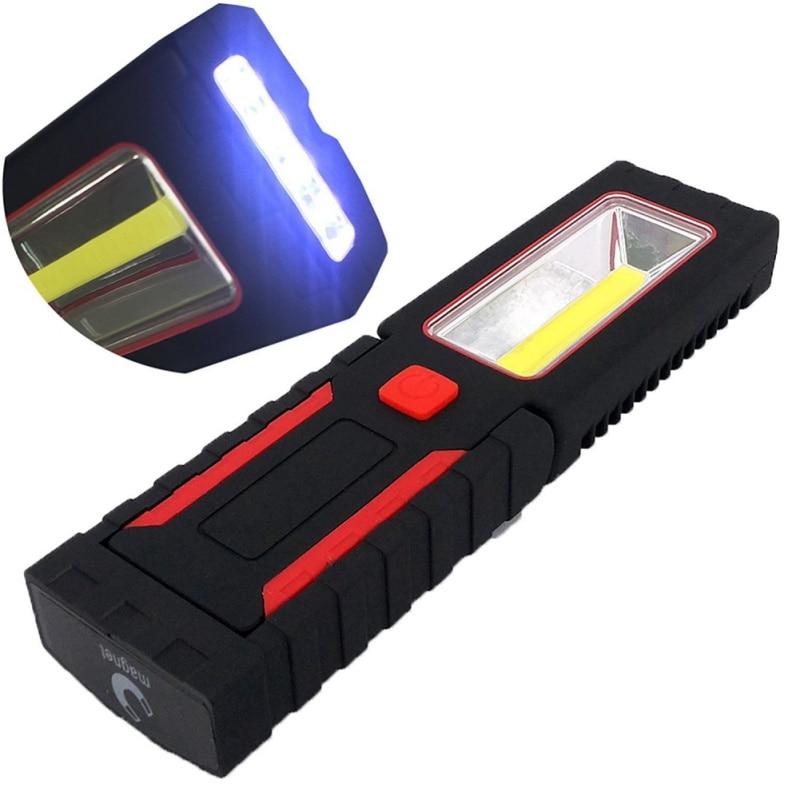 Magnet Multifunction Useful Portable 3W Rotation Flashlight Torch COB Outdoor Work Vehicle Inspection Hook LED Hard Light