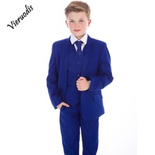 Boys Blue Suits, Boys Suits, Page Boy Prom Wedding Party Outfit 3 Piece wedding boy s suits double breasted suit page boy party prom suits custom made 2 piece set