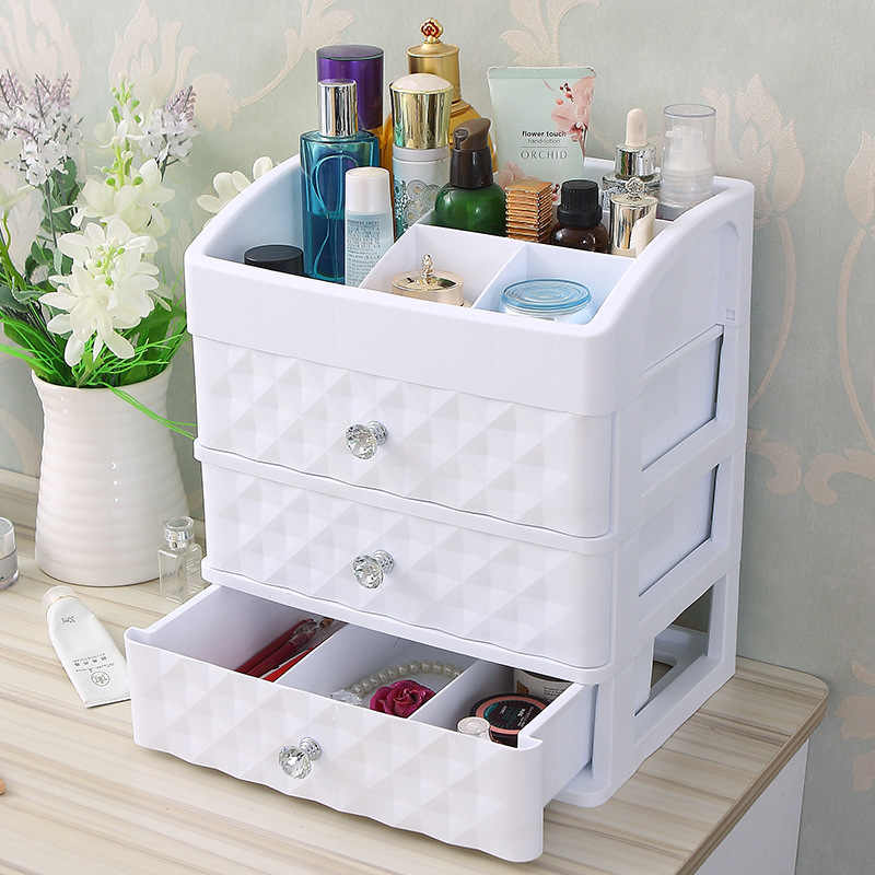 65a3be54ce04 Plastic Make Up Organizer Jewelry Container DIY Waterproof Storage ...