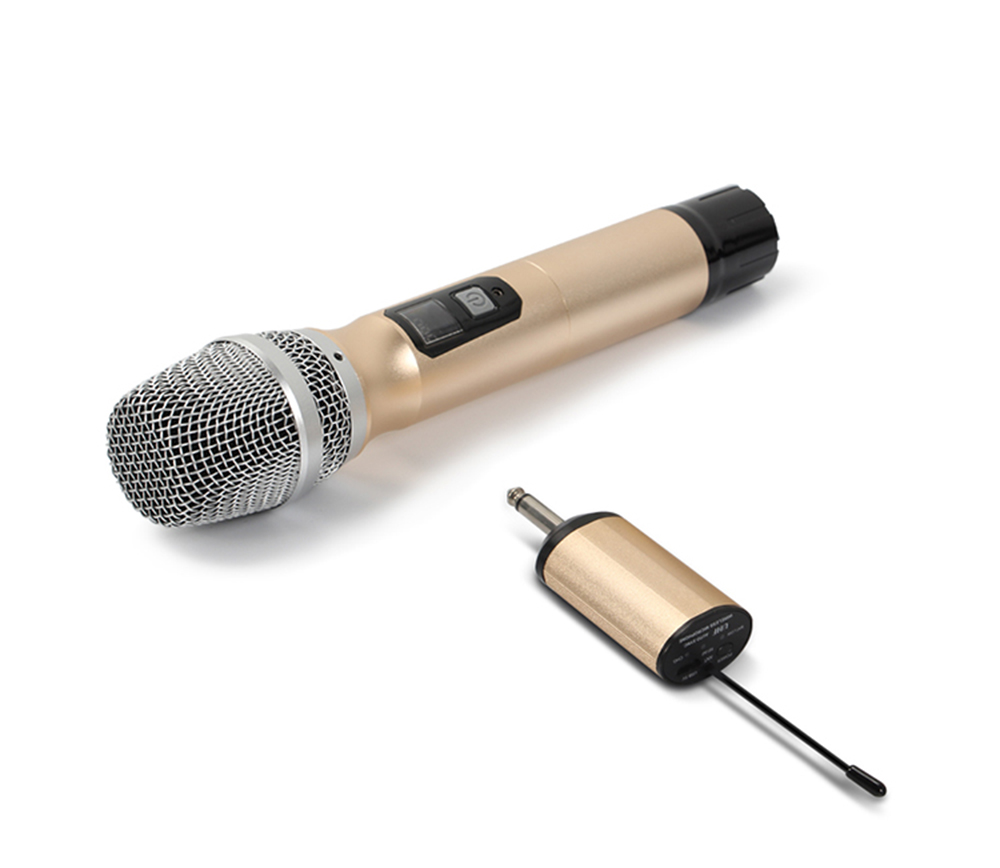 UHF band mini receiver show party karaoke metal handheld portable wireless microphone system good for out