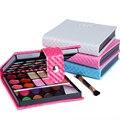 4 Cores Pequena caixa de Maquiagem Da Paleta Da Sombra de 32 cores Da Moda Sombra de olho Compõem Sombras Com Caso Cosméticos Para As Mulheres 25619