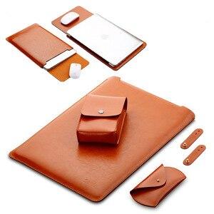 Роскошная сумка для ноутбука из искусственной кожи для Xiaomi Mi Notebook Air 12,5 13,3 Pro 15,6, чехол для переноски Xiaomi Air 12 13, чехол