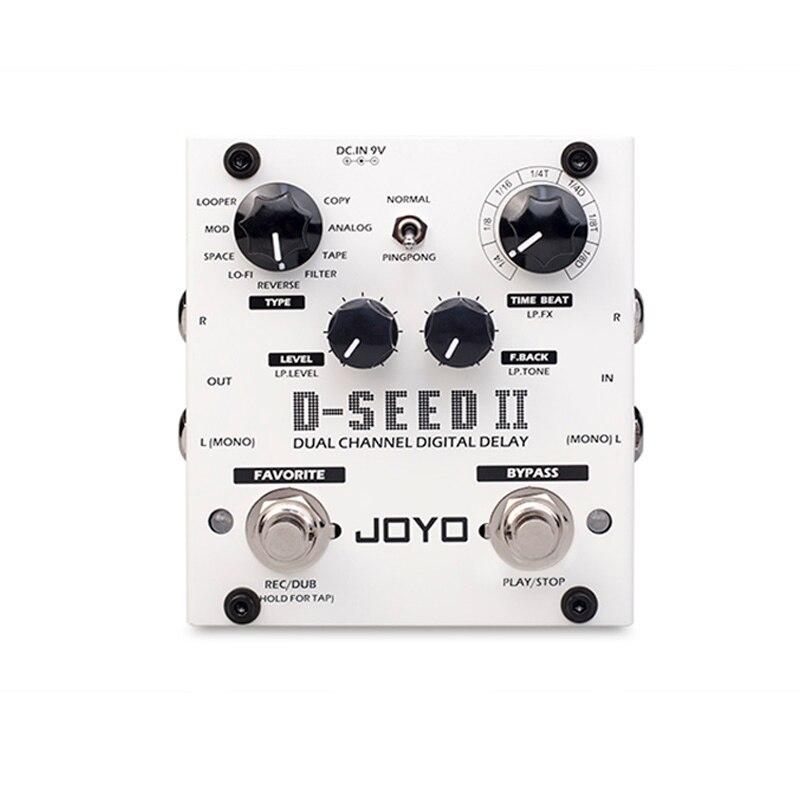 JOYO D-SEED II effet de ping-pong stéréo retard de pédale de guitare fonction de boucleur enregistrement de bande Simulation copie effets inverses analogiques