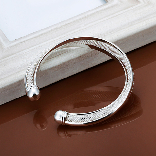 Silver Plated Color Charm Open Bracelet bangle Jewelry