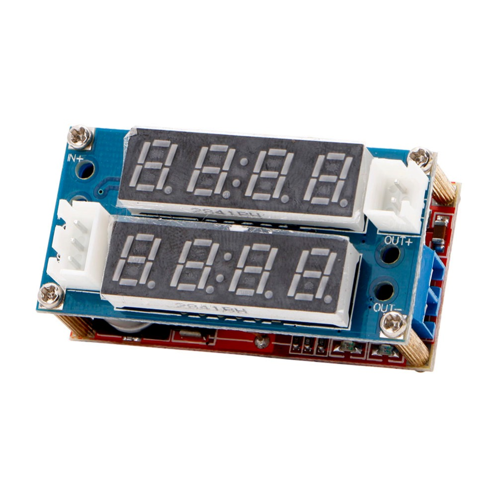 OOTDTY LED 5A Adjustable Power CC/CV Step Down Charge Module Driver Ammeter Voltmeter 1pcs lm2596 dc dc step down adjustable cc cv power supply module led driver