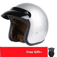 New arrival Motorcycle helmet retro scooter open face helmet vintage 3/4 casque motociclistas capacete 8658 model cascos