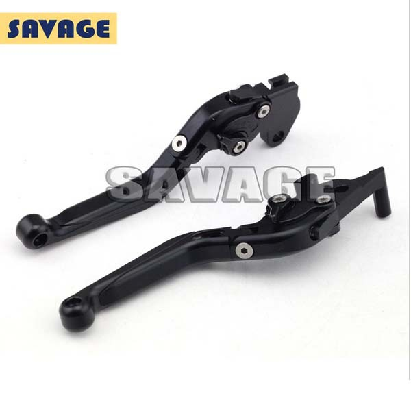 Motorcycle Accessories CNC Aluminum Folding Extendable Brake Clutch Levers For YAMAHA YZF-R25 2014-2015, YZF-R3 2015 Black