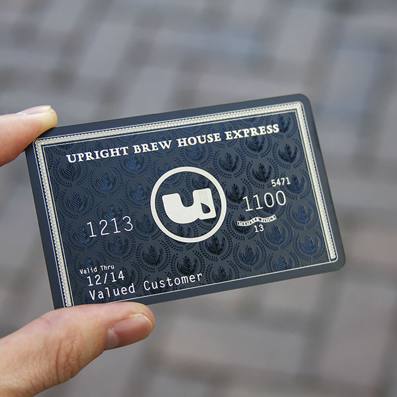 Creative metal membership card black s