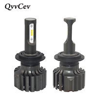 QvvCev LED Headlight H1 H3 H4 H7 Auto Car Headlamp 72W 6000K Car Styling LED Car