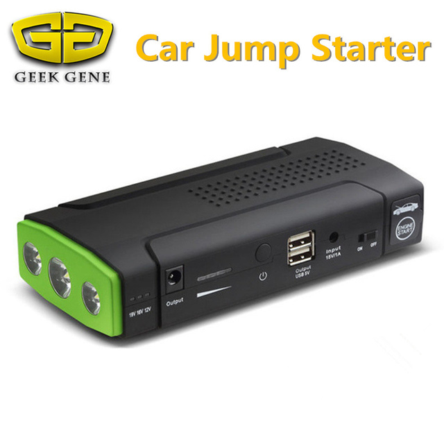 High Quality 12V Mini Emergency Car Jump Starter Multi-Function Power Bank 9900mAh Battery Charger Booster Cellphone Petrol