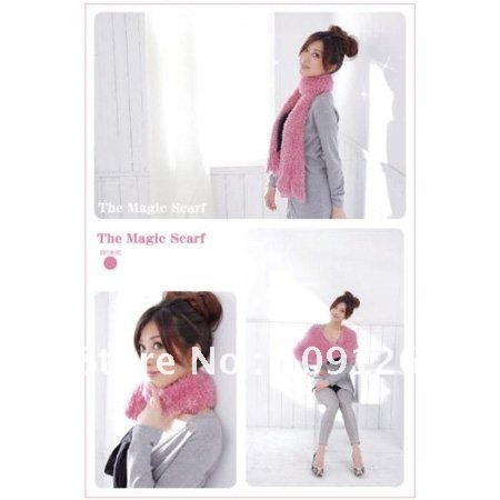 Free shipping wholesale 100% high quanlity the knitting magic scarf, fashion top stylsts many ways to wear 2011 New Design
