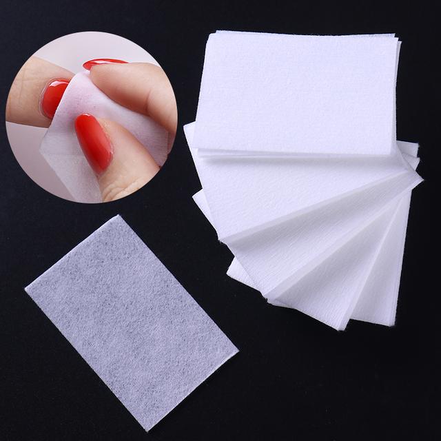 1000pcs Lint-Free White Nail Polish Remover Cotton Wipe Nail Art Tips Nail Clean Wipes Pads Paper