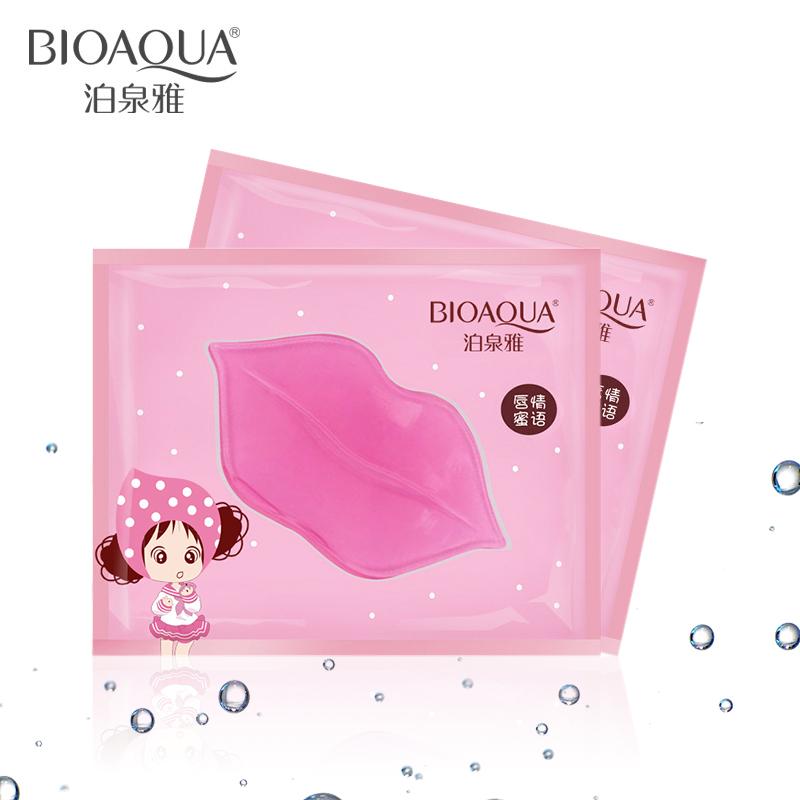 20pcs BIOAQUA Plumper Crystal Collagen Lip Mask Pads Moisture Essence Anti Ageing Wrinkle Patch Pad Gel Lips Freeshipping