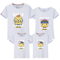 Parenting Spring Loaded Summer Wear Baby Time Cotton Upper Tide Cartoon Motion Dress One Home Three