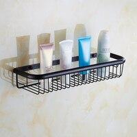 45cm Square Antique Black Bathroom Shelves Wall Mounted Vintage Kitchen Storage Shelves Baskets Copper Shelf Rack