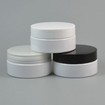 60pcs/lot 80g White Plastic Cream Jar,3oz Empty Makeup Cosmetic Container,Facial Mask Cream Bottle,80ml Eyey Cream Packing