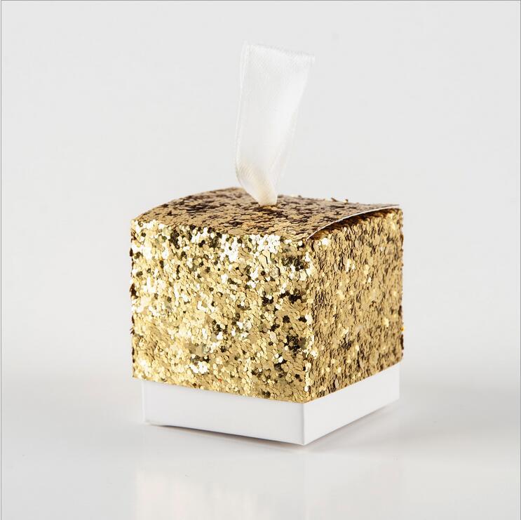 Ev ve Bahçe'ten Hediye Çantalar ve Sarma Malzemeleri'de Düğün Parti Iyilik Ve Hediyeler Düğün Iyilik Çikolata Şeker Hediye Kutuları Parti Gümüş/Altın Glitter Iyilik Kutusu Konuk Için'da  Grup 1