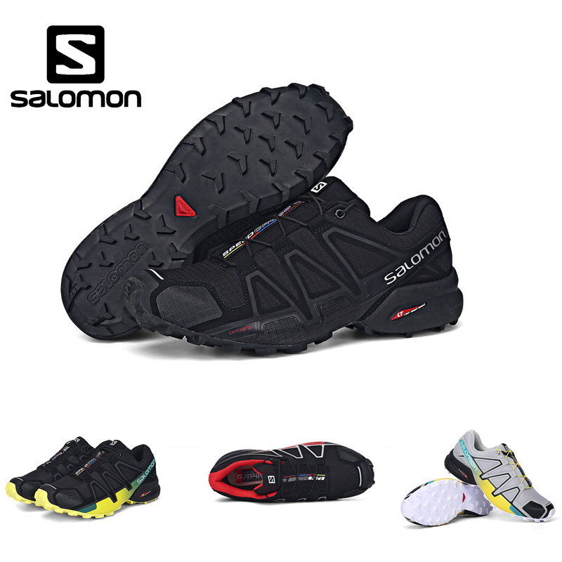 High Quality Salomon Men Shoes Speed Cross 4 CS sneakers Men Cross-country Shoes Black Speedcross 4 Jogging Shoes Running Shoes salomon speed cross 3 cs men shoes new man running shoes sports shoes sneakers outdoors mesh breathable wading walk couple athl
