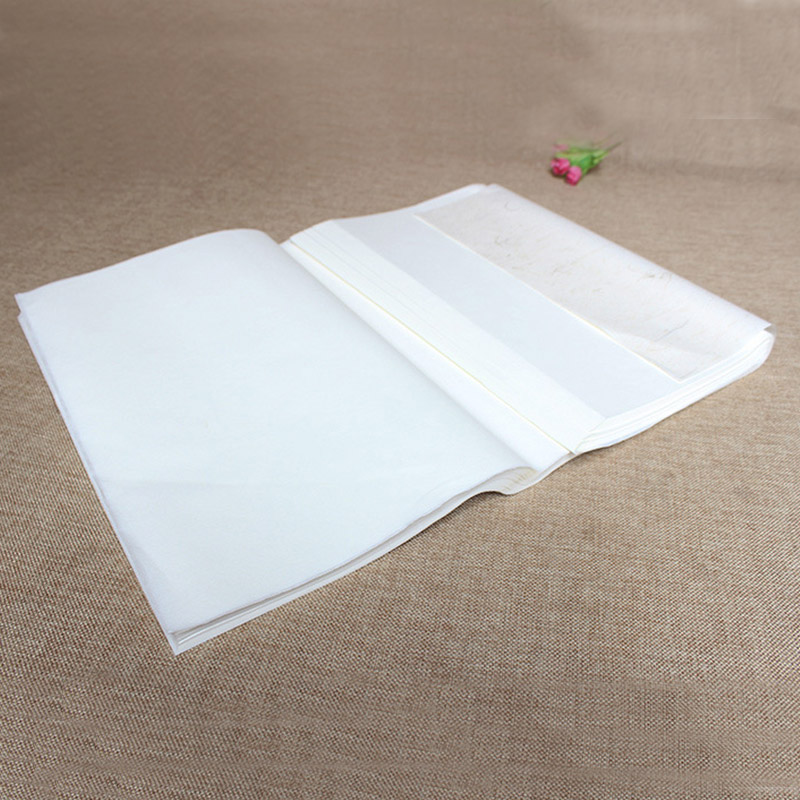 100pcs White chinese rice paper painting supplies xuan paper for artist painting paper calligraphy drawing paper top chinese hemp paper hand made traditional rice paper for painting calligraphy artist supplies