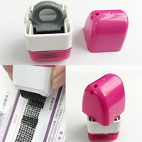 1pc Portable 15mm Identity Theft Protection Code Guard Stamp Seal Roller Self Inking Stock Stamp Guard