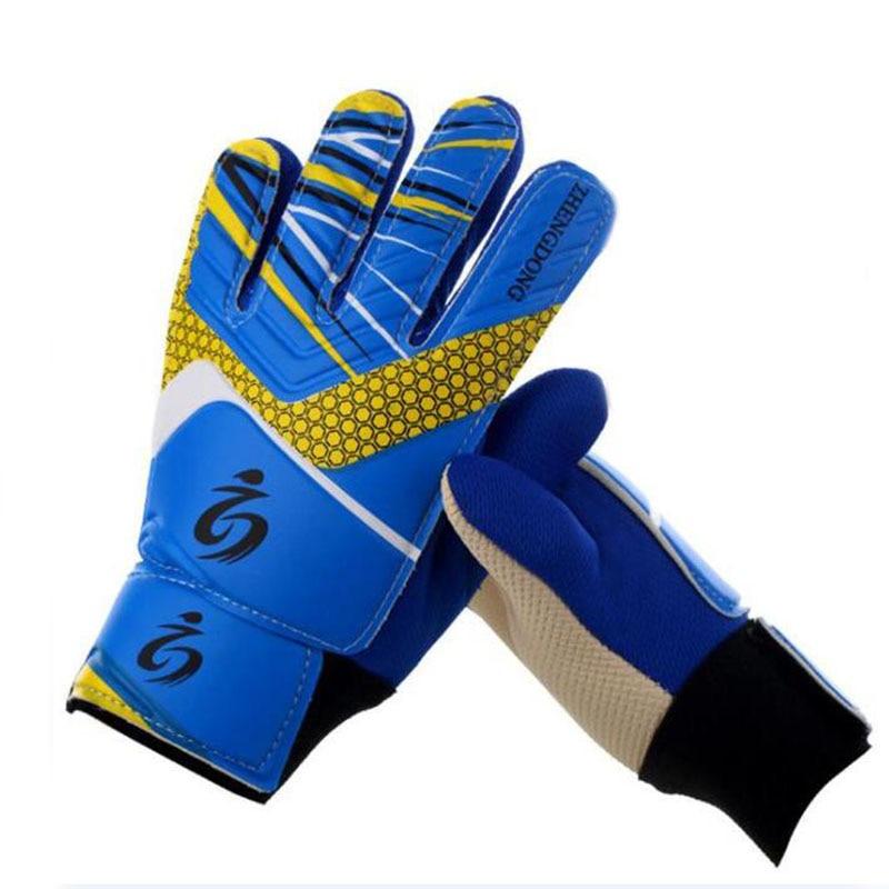 Kid's Soccer Goalkeeper Gloves Guantes De Portero For Children 5-16 Years Old Soft Goalkeeper Gloves Size 5/6/7