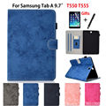 SM-T555 чехол для Samsung Galaxy Tab A 9 7 SM-T550 T550 T555 P550 P555 Smart Cover Funda Tablet Protector Stand Shell + пленка + ручка
