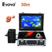 EYOYO 9 Video Fish Finder HD 1000TVL 30M Full Silver Invisible Fishing Camera Outdoor White LED