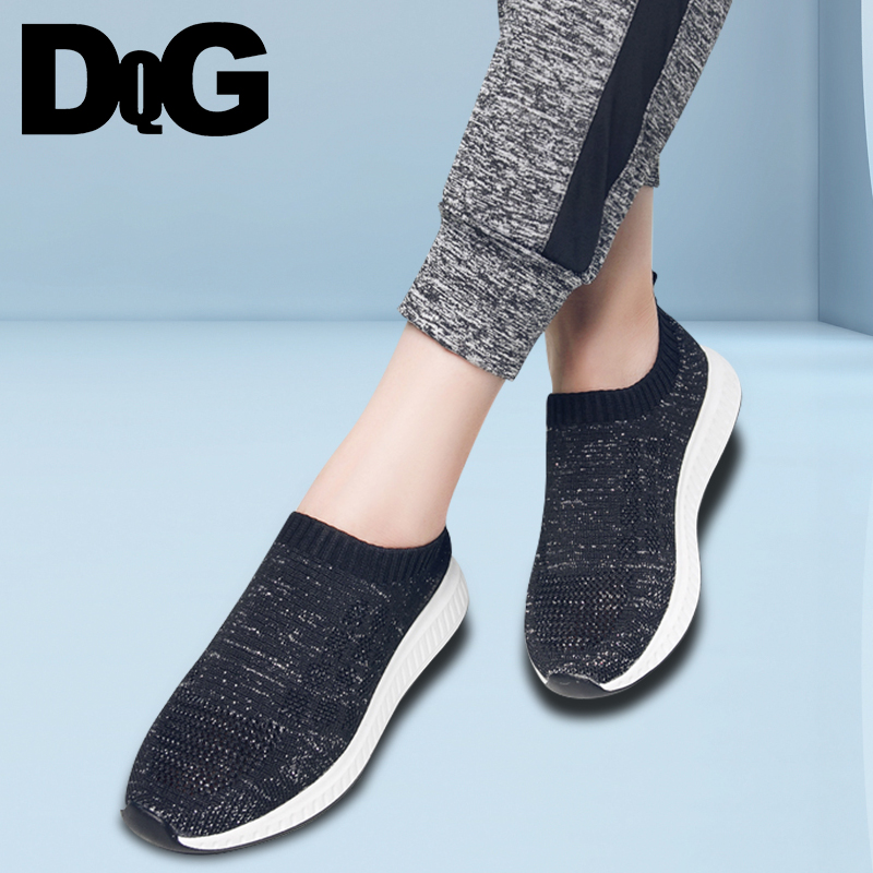 DQG 2018 Summer Women Shoes Solid Fly Weave Zapatos Mujer Slip On Sporting Casual Ladies Female Shoes Flats Chaussures Femme все цены