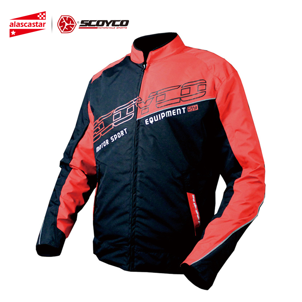 SCOYCO Motorcycle Jacket Sports Clothing Windproof Reflective Fabric Motorbike Motocross Off-Road Touring Riding Jacket jk31 scoyco motorcycle motorbike touring riding jacket motocross off road racing jacket breathable clothing with 7 pieces protectors