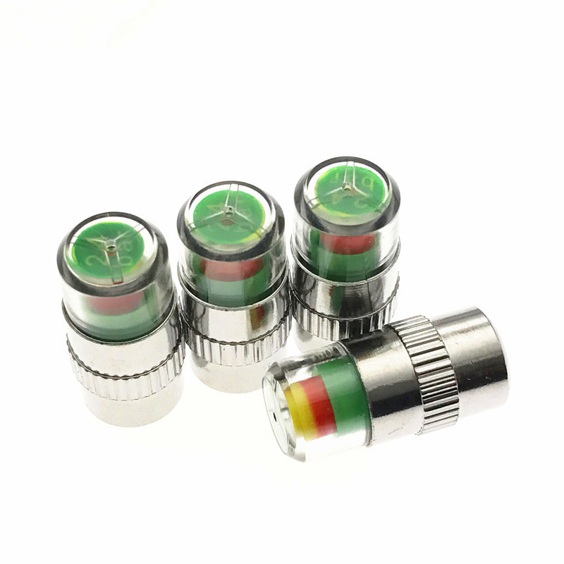 4PCS Car Tyre Tire Pressure Gauge Monitor Indicator Tpms Monitoring Cap Sensor Wheel Car Styling Air