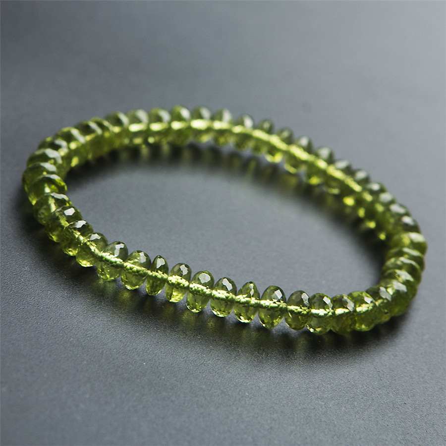 6mm Genuine Natural Green Peridot Olivine Faceted Gem Stone Round Crystal Quartz Beads Jewelry Stretch Charm Bracelet Femme 6 5mm genuine natural yellow chalcedony 108 round beads jewelry crystal quartz women femme charm diy stretch charm bracelet