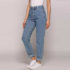 Women Pants Jeans Loose Vintage High-Waist Imitation New Cowboy Slim