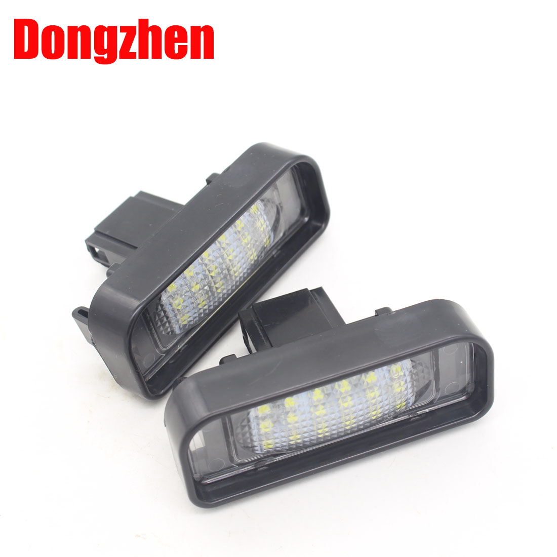 DongZhen Car Error Free 18LED 3528SMD License Plate Light Lamp Fit For Mercedes Benz S Class W220 Bright White 1999-2005 10pcs error free led lamp interior light kit for mercedes for mercedes benz m class w163 ml320 ml350 ml430 ml500 ml55 amg 98 05