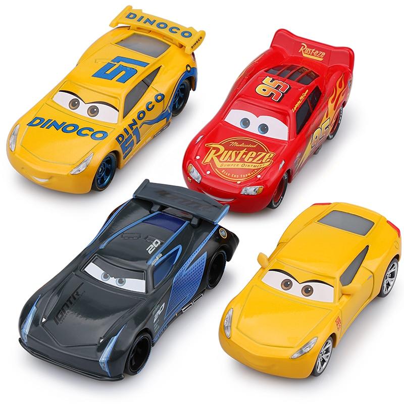 Disney Pixar Cars 3 New Lightning McQueen Jackson Storm Cruz Ramirez Mater 1:55 Diecast Metal Alloy Car Model Kid Christmas Toy