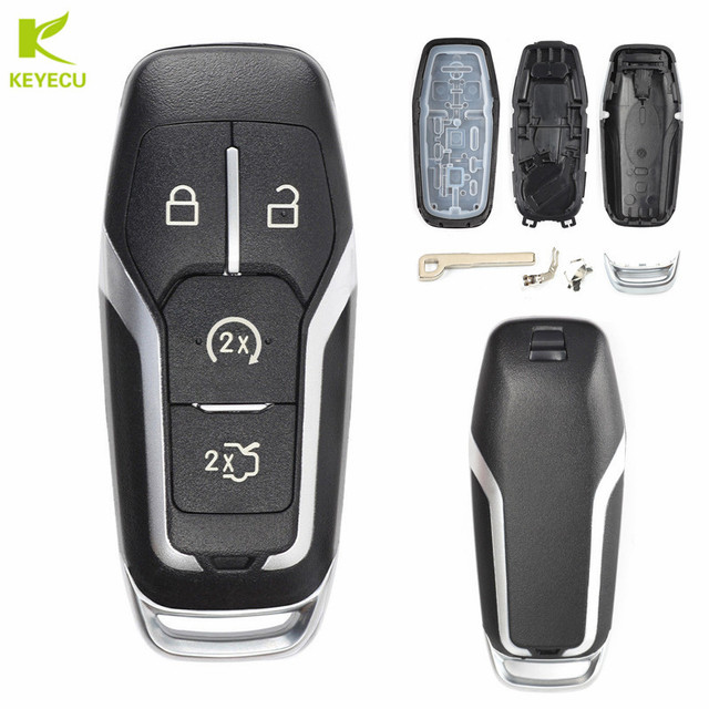 Keyecu Replacement Smart Prox Remote Key Shell Case Fob B For Ford Edge Explorer Mustang F
