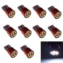 Ampoules LED T10 pour Voiture, 168, 194, 501, W5W, 6, 4014, SMD, DC 12 v, éclairage de marquage, En Gr, 10 pièces, Vente Chaude