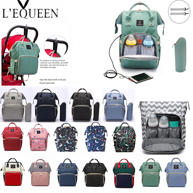 18313bb2a2a Lequeen Fashion Mummy Maternity Nappy Bag Brand Large Capacity Baby Bag  Travel Backpack Designer Nursing Bag for Baby Care