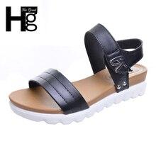 Hee Grand/сандалии-гладиаторы женские сандалии с открытым носком академический Стиль обувь на платформе крюк-петля обувь на высокой танкетке женские XWZ3022