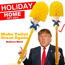 Toilet Brush Donald Trump Supplies Home Hotel Washroom Clean Tools , President Make Great, Hot sell WC
