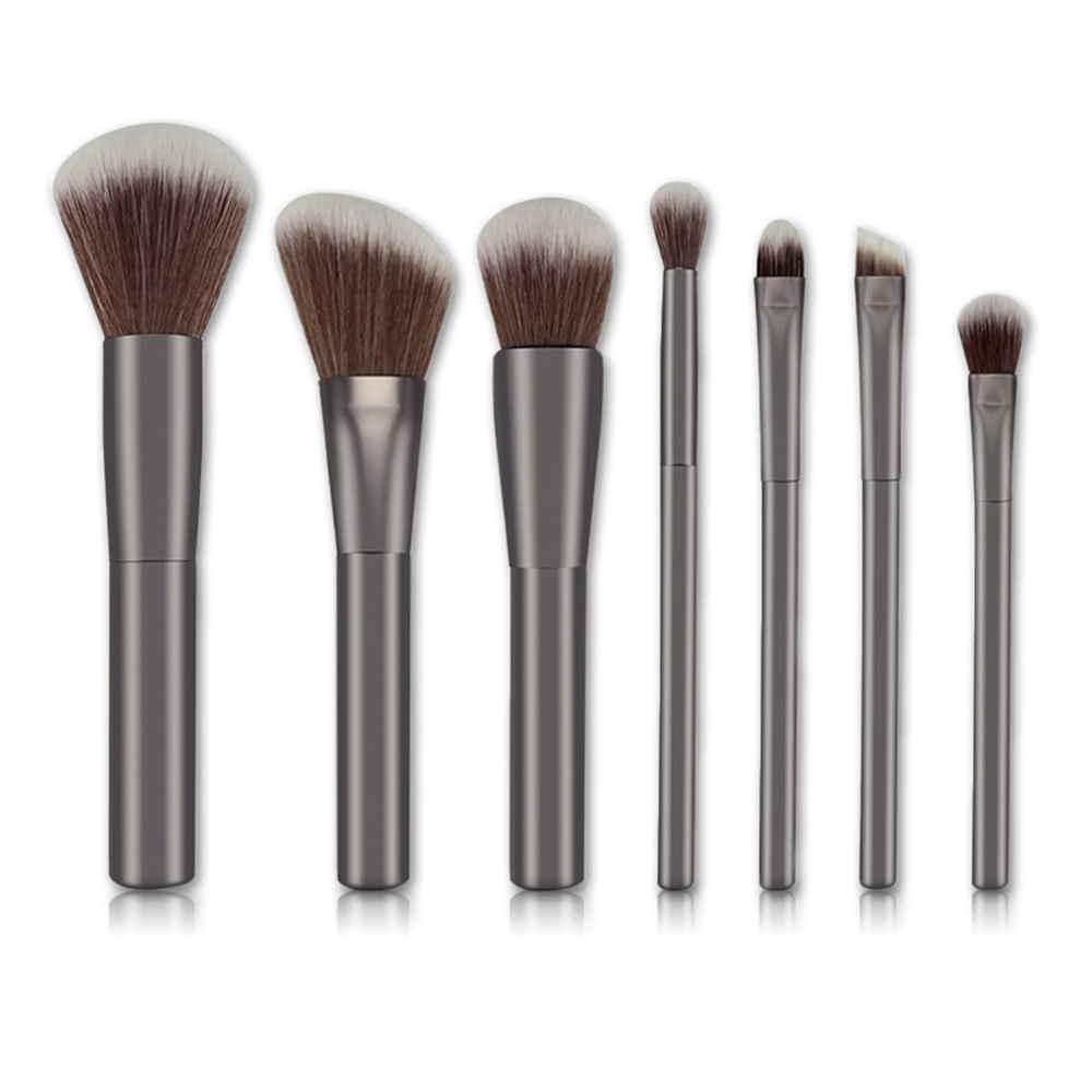 7 Pcs  Cosmetic Face Cream Powder Eyeshadow Eyeliner Makeup Brushes Set Powder Blusher Foundation Cosmetic Tool Drop Shipping 7 pcs cosmetic face cream powder eyeshadow eyeliner makeup brushes set powder blusher foundation cosmetic tool drop shipping