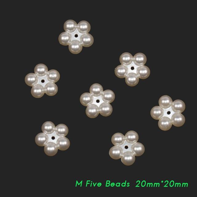 Новые акриловые бусины 20*20 мм 25*25 Три/пять жемчужин самодельные