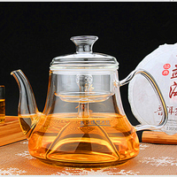 Transparent thick glass steaming teapot traditional chinese tea set kettle tea pot tea kettle
