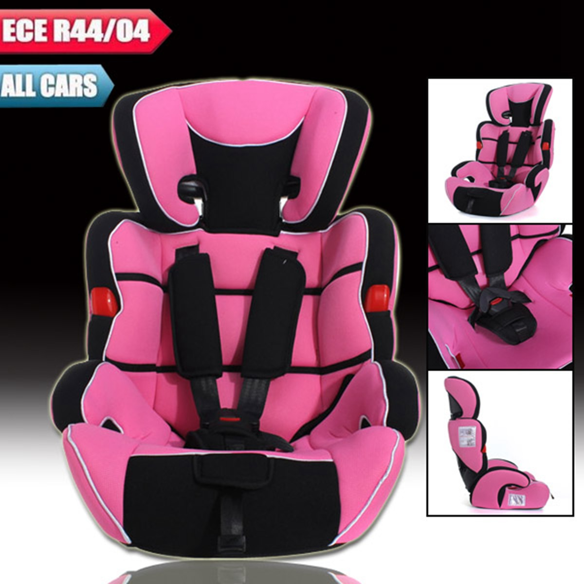 Car Seat Booster Pink Convertible Baby Children Kids Seats ECE R44 04 US STOCK On Aliexpress